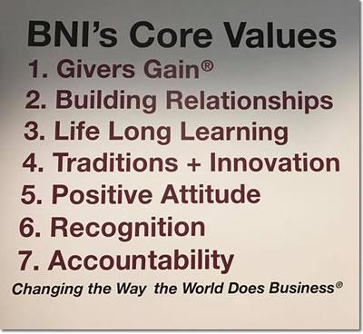 BNI Washington DC Core Values